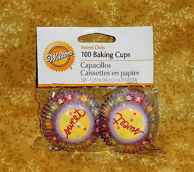 Sweet Dot Mini Cupcake Papers,wilton,yellow,multi-color 415-1183,100 Ct. Kitchen, Dining & Bar