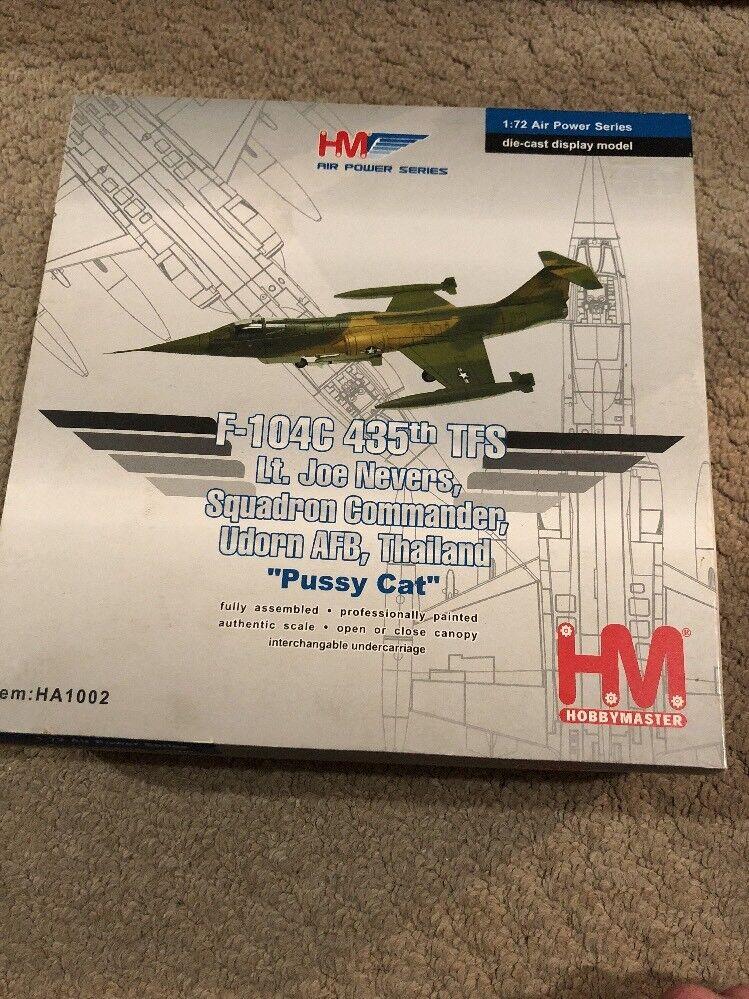 "Hobbymaster HA1002 1 72 F-104C Lt Joe Nevers ""Pussy Cat"" Udorn AFB BNIB"