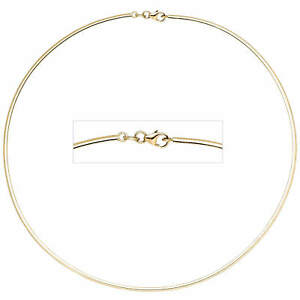 2mm-Necklace-Choker-Chain-333-Yellow-Gold-Flat-42cm-Necklace-Necklace