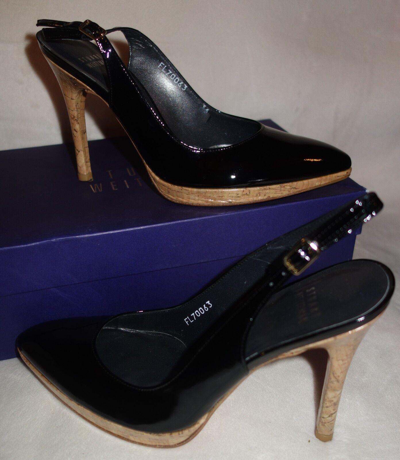 Stuart Weitzman 'Miasling' Genuine Patent Pelle Heels  - sz 37 new
