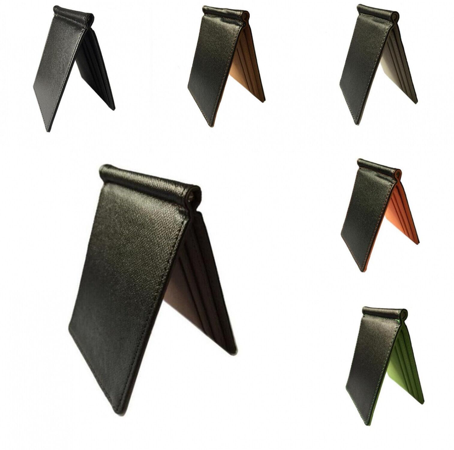 Minimalist Wallet Casual Super Ultra-thin Slim Faux Leather Money Clip Purse