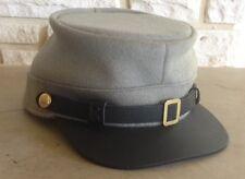 Confederate Tuscaloosa Gray Kepi, Civil War Hat, US Made, New