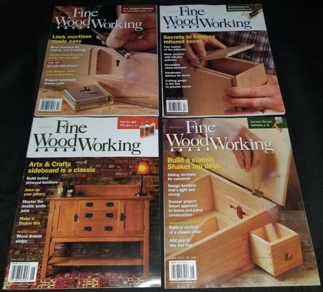 Fine Woodworking magazine lot of 7 issues 2015 complete ...
