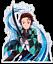 Demon Slayer Tanjiro Kamado Anime Decal Sticker for Car//Truck//Laptop