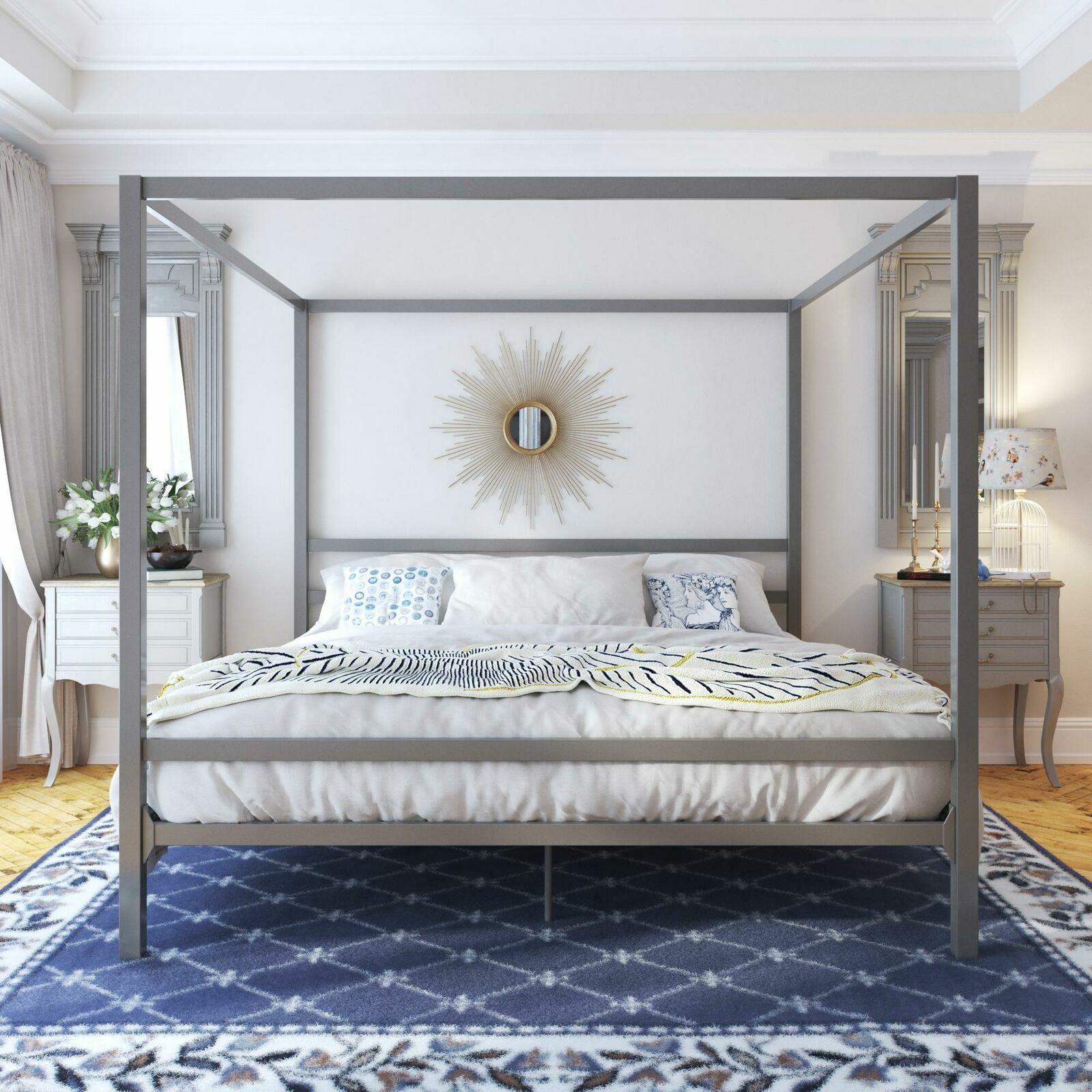 Bed Upholstered Frame Super King Size 180 X 200 High Headboard