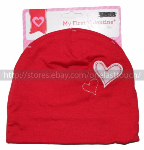 DANDEE* MY FIRST VALENTINE Infant BABY HAT Red+White *YOU CHOOSE*