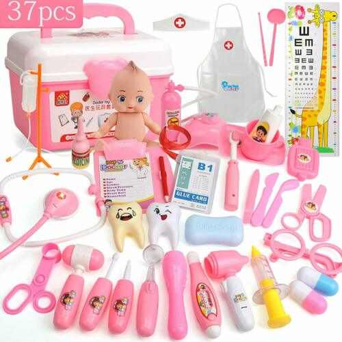 37pcs Doctor Kit Set Pretend Role Play Medical Equipment Toys for Kids Children