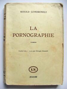 WITOLD-GOMBROWICZ-LA-PORNOGRAPHIE-JULLIARD-1962-EO-N-TIRAGE-SPECIAL