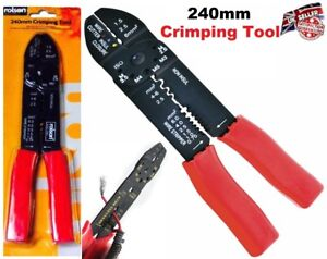 Multi-Purpose-Crimping-Tool-240mm-Computer-Cutter-Wire-Hand-Tool-Rolson-Brand