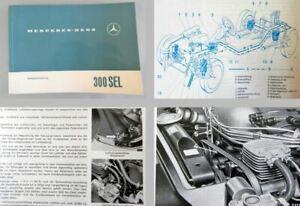 Mercedes-Benz-300SEL-8-W109-Betriebsanleitung-Original-1968-mit-Motor-M130