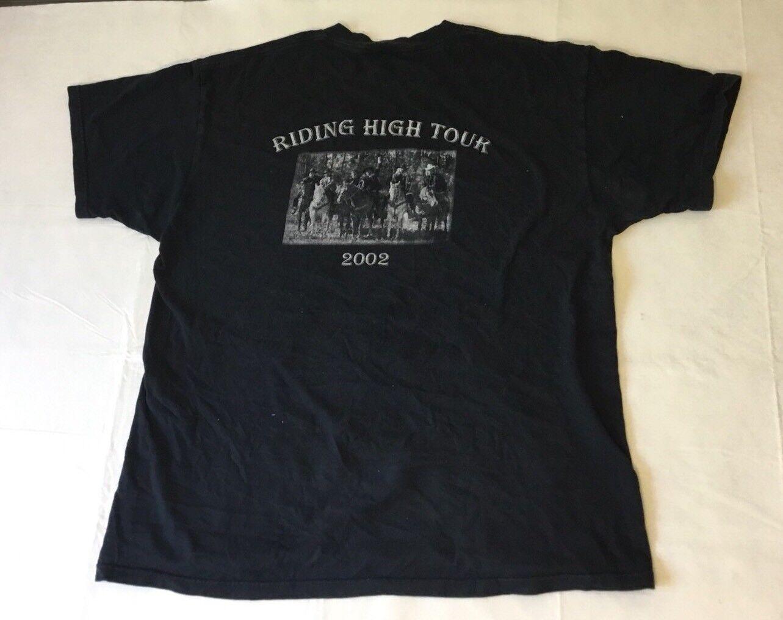 Vintage RARE Lone Star Band Riding High Tour 2002 Shirt XL John Peel JPB