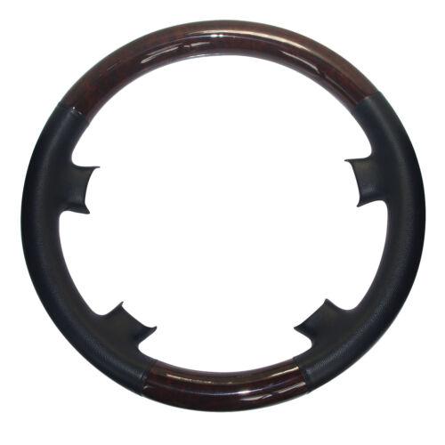 Schwarz Leder Holz Lenkradbezug für 93-00 Benz W202 S202 C180 C200 C240 C36 AMG