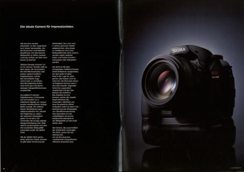 Prospekt Sigma sd14 funda neopreni cámara reflex 2006 24 páginas folleto brochure camer