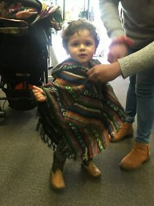 New-Childs-Unisex-Brushed-Cotton-Diamond-Poncho-size-1-to-3-years