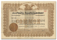Ad-Photo-Scope Company Stock (Motion Picture Machine)