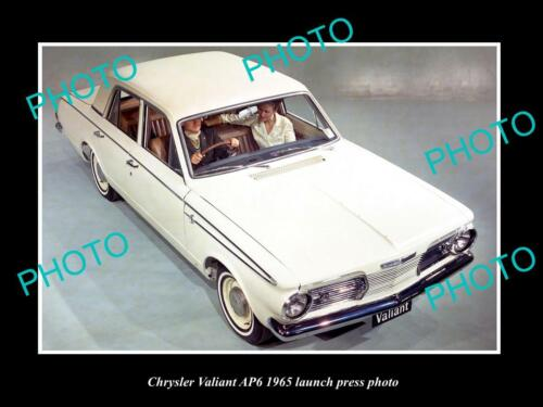 OLD 6 X 4 HISTORIC PHOTO OF 1965 AP6 CHRYSLER VALIANT LAUNCH PRESS PHOTO