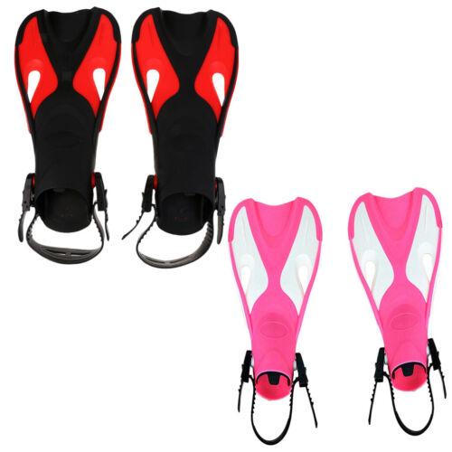 1 Pair Unisex Short Sport Foot Flipper Adjustable Open Heel Diving Swim Fins