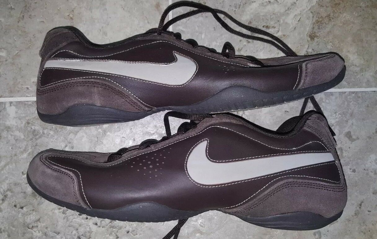 VINTAGE 2007 Nike Air Brown Leather Suede shoes Men's Size US11 UK10 NICE LOOK