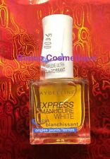 Soin Blanchissant Ongles jaunis ternes Gemey Maybelline EXPRESS MANUCURE WHITE