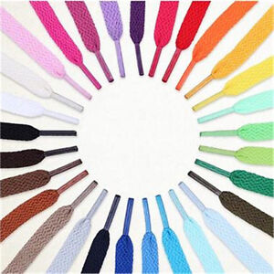 1-Paire-Plate-Lacets-de-Chaussures-Unisexe-Shoelaces-Basket-Cordon-Polyester