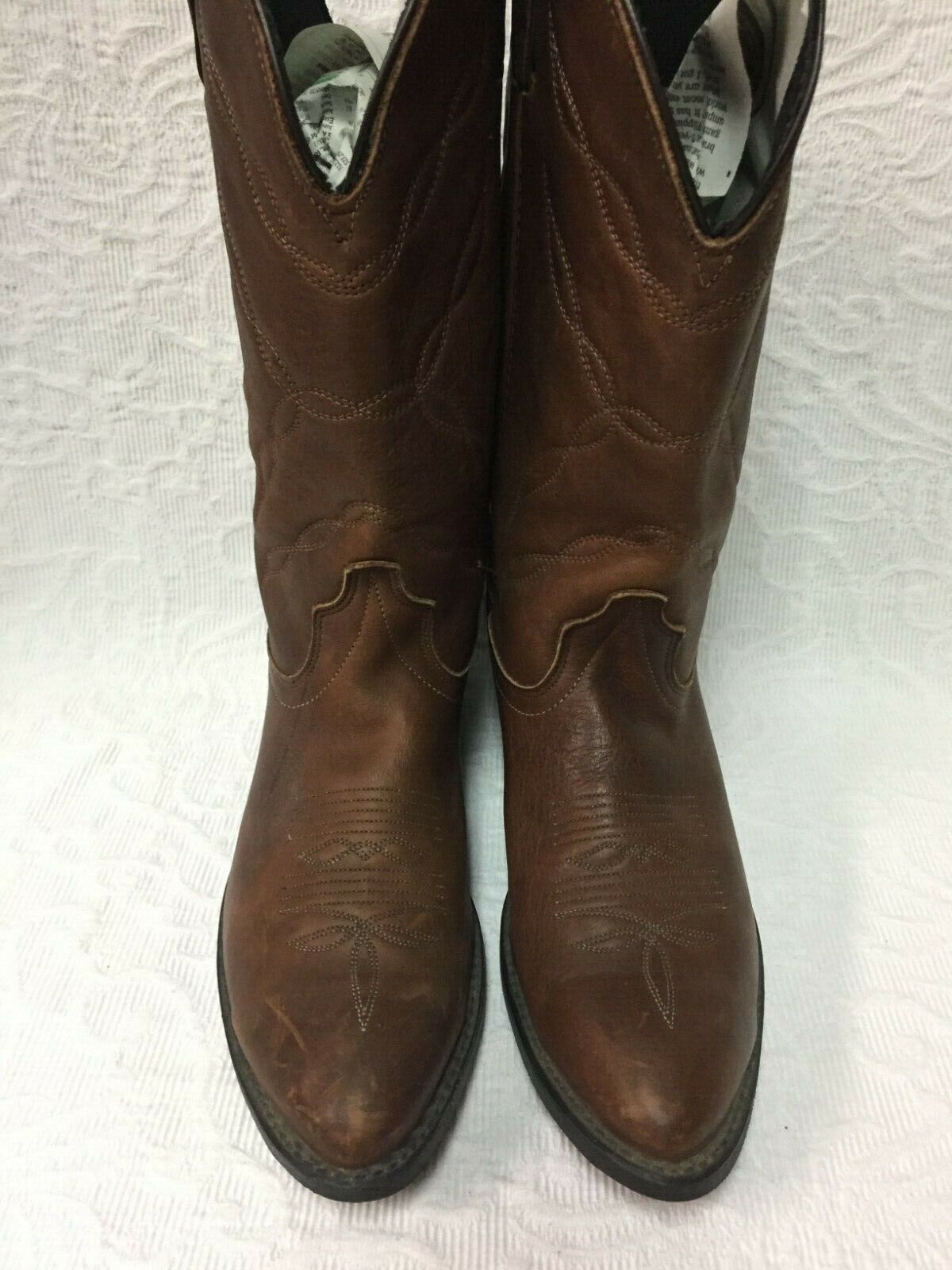 Loredo Oil Resistant Pull On Boots - Men's 8.5 EE - Brown - Leather - Pre-Owned