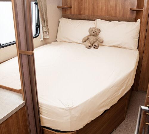 White Coachman VIP 530-4 Caravan Fitted Sheet Ivory Walnut Whip