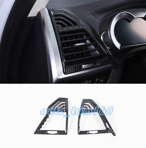 For BMW X3 G01 X4 G02 2018 2019 Car Side Air Vent Outlet Cover Carbon Fiber Trim