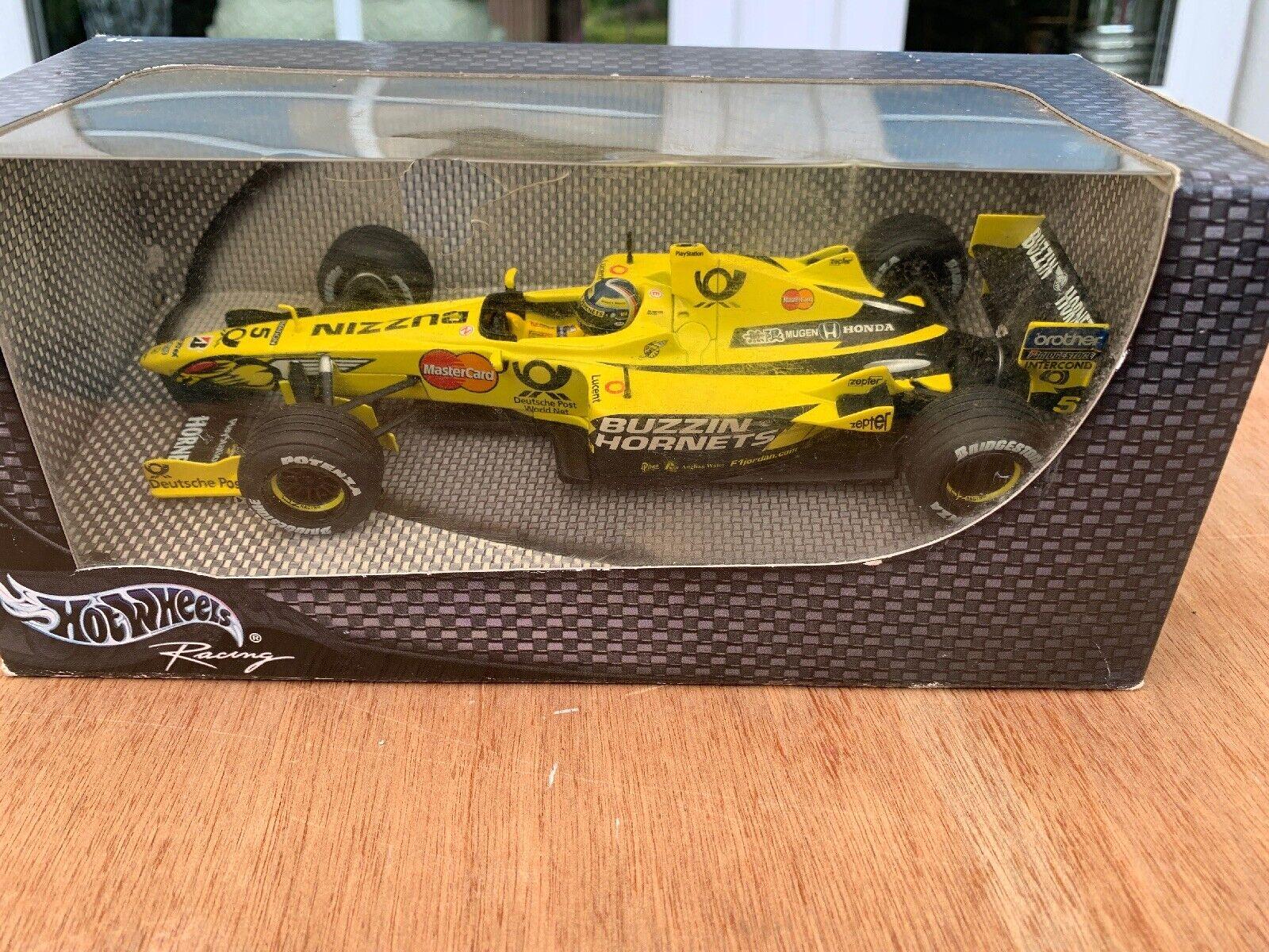 HOT WHEELS RACING F1 Jordan Buzzin Hornets Formula 1 Car Edde Post Gelb