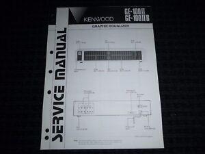Vtg-Original-Kenwood-Service-Manual-Model-GE-100II-GE-100IIB-Graphic-Equalizer