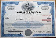 'Halliburton Company' 1975 $25,000 Stock/Bond Certificate