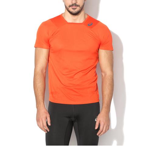 Asics Running t-Shirt Men's Small logo Athlete Training T-Shirt - Orange - New