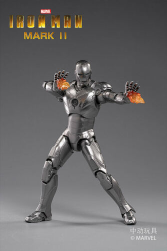 ZD TOYS Iron Man MK 2 Mark II 7'' Action Figure Marvel Comic Model Toy OFFICIAL