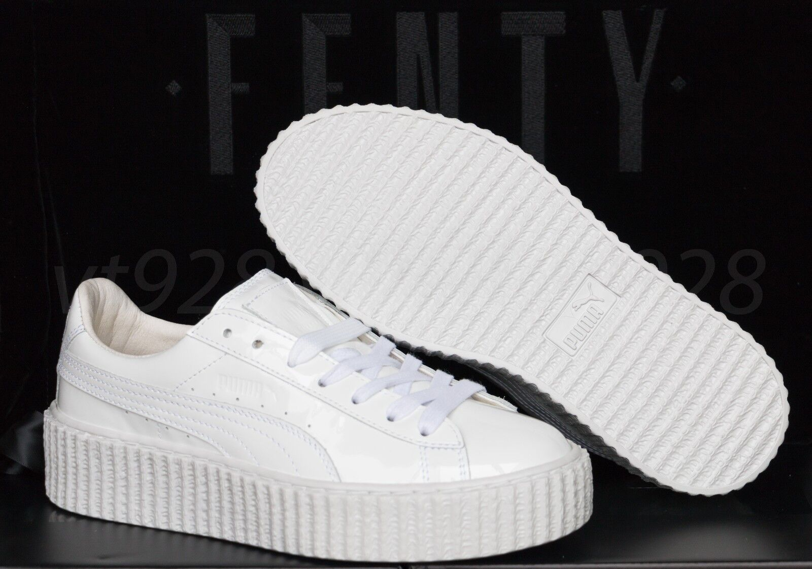 NEW PUMA FENTY RIHANNA CREEPERS GLOSSY WHITE LEATHER MEN'S SHOES ALL SIZES