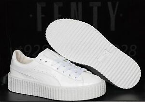 sports shoes d6e5f 763ad Details about NEW PUMA FENTY RIHANNA CREEPERS GLOSSY WHITE LEATHER MEN'S  SHOES ALL SIZES