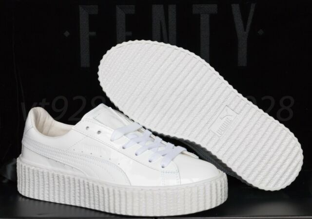 new concept 6316e 97ff7 NEW PUMA FENTY RIHANNA CREEPERS GLOSSY WHITE LEATHER MEN'S SHOES ALL SIZES