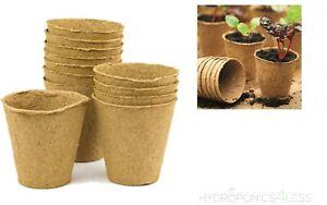 Bio-Degradable-6cm-8cm-Round-Fibre-Pot-Propagation-Garden-Greenhouse-Hydroponics
