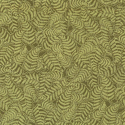 Ferns on Green Plants Nature Landscape Quilt Fabric Craft FQ or By The Metre NEW