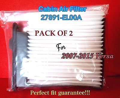 x2 C25877 CABIN AIR FILTER For 07-14 Versa 1.8L & 14-16 Versa CF10545 24829
