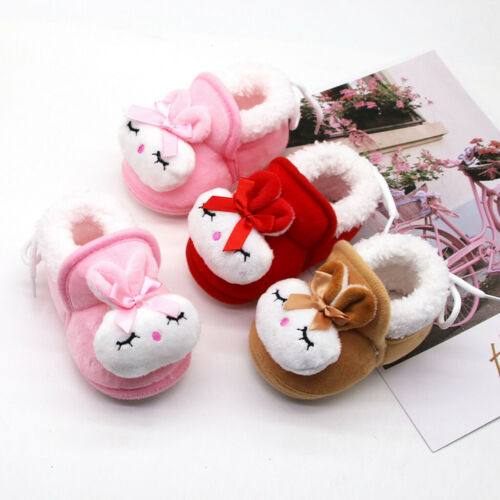 Baby Shoes Toddler Infant Kids Girls Boys Cartoon Rabbit Warm Winter Shoes Boots