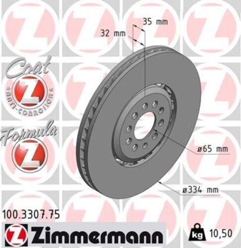 1x ZIMMERMANN Bremsscheibe FORMULA Z COAT Z Vorne Links für Audi TT VR6 quattro
