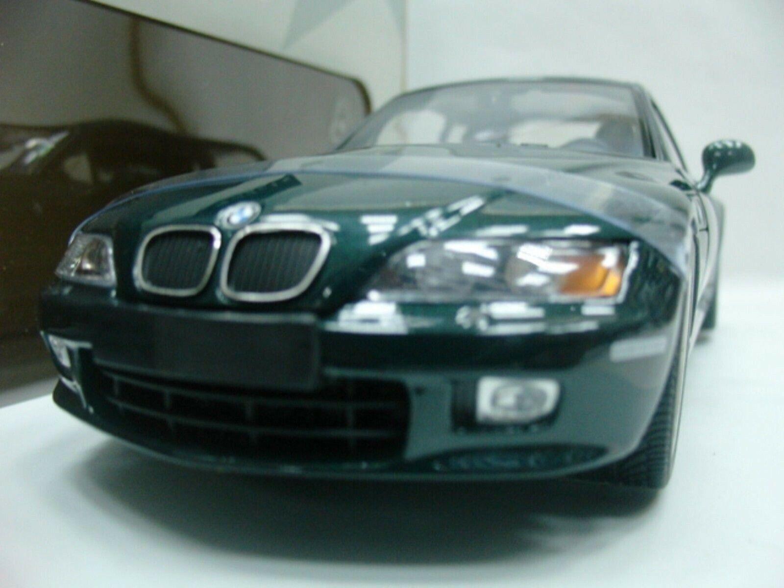 Wow extremamujerte raro BMW Z3 2.8 Coupe 24V 1998 Oxford verde 1 18 UT-Auto Art M Gtr