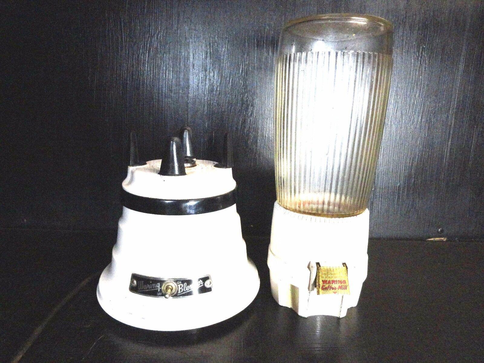 Vintage Waring Blender COFFEE MILL GRINDER BA-2 GLASS AND METAL Model 700B