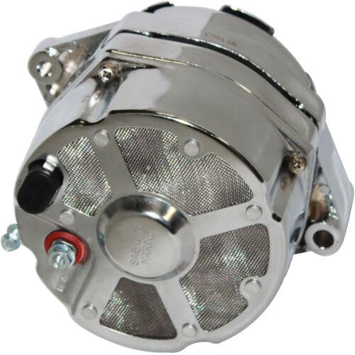 Chrome Alternator Fits Delco Marine Mercruiser 3-Wire 100Amp