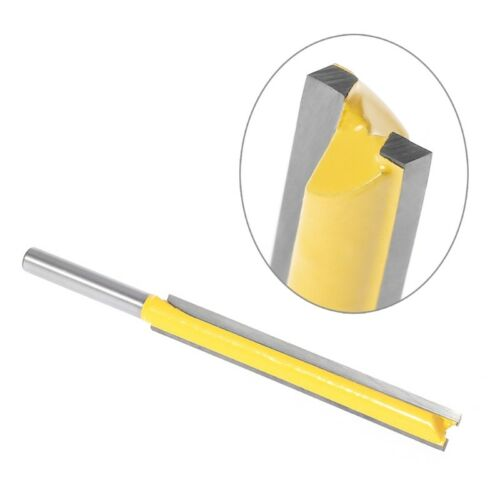 """3//8/"""" W x 3/"""" H 1//4/"""" Shank Long Straight Router Bit Extra Trimming Blade"""