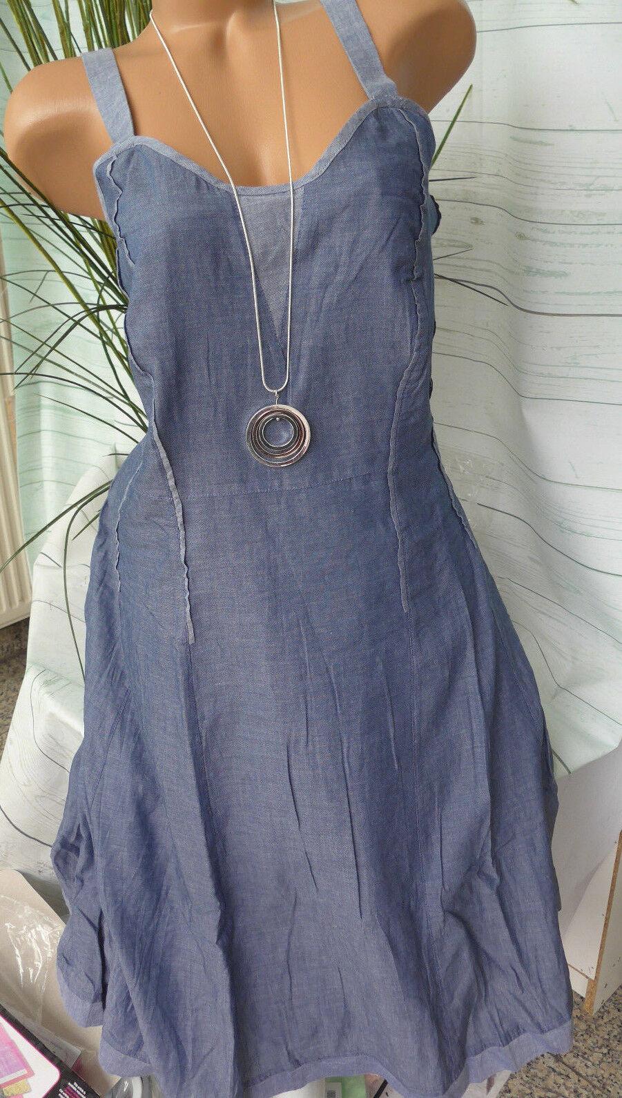 Joe Browns Strap Dress Gr. 40 Bis 58 Denim Dress Look New (568)