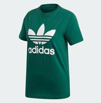 Adidas Originals Women's TREFOIL T Shirt Collegiate GreenWhite DV2597 d | eBay