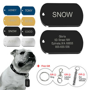 Custom-Military-Dog-Tags-Engraved-Pet-Name-ID-Collar-Tags-Engraved-Free-Whistle