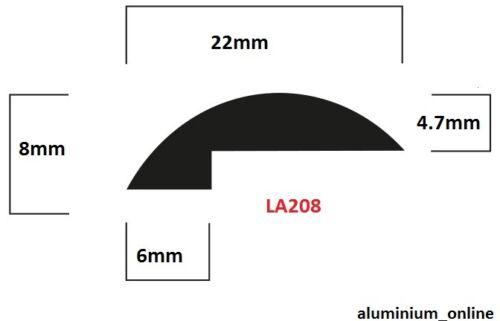 ALUMINIUM EDGE TRIM CORNER PROTECTOR FINISHING STRIP 10 VARIATIONS 250-2500mm 05