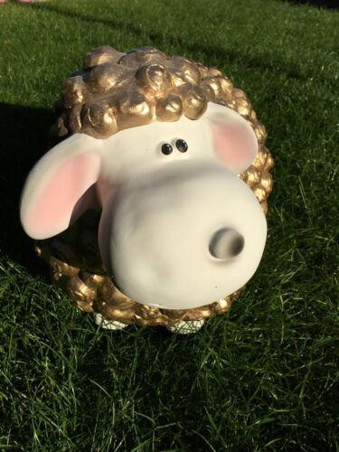 VIP Goldenes Schaf Dekoschaf Witziges Schaf Wetterfest Gartenfiguren Tierfiguren