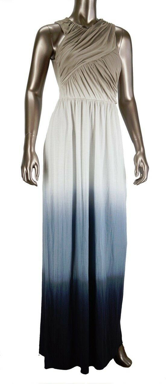 NWT Young Fabulous & Broke Heloise Maxi Dress In Stone White Navy Size XS